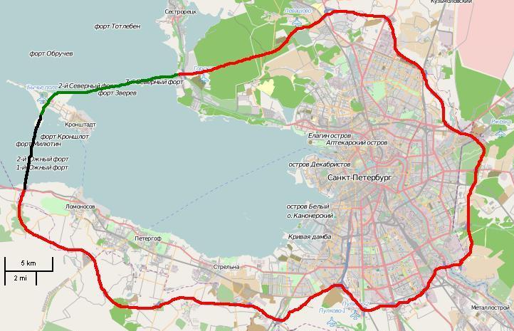 Кольцевая. Схема магистралей